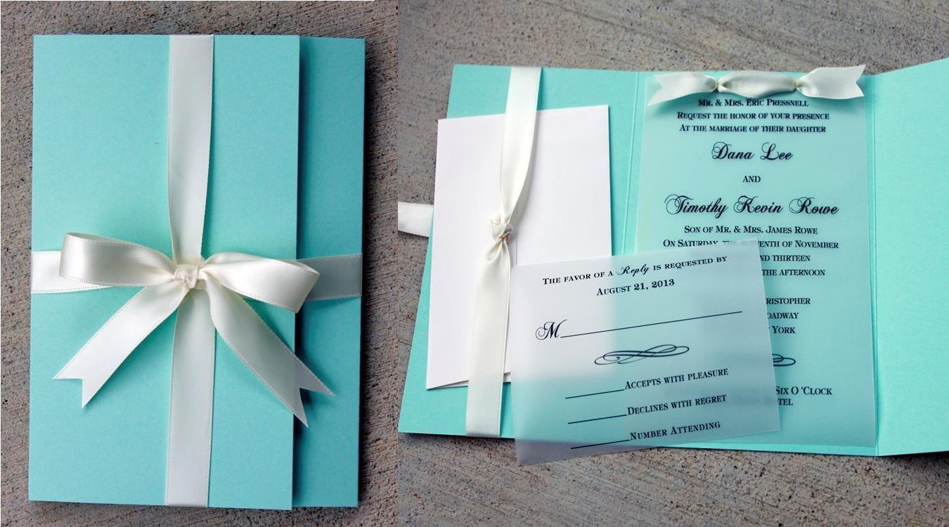 Свадебные приглашения в стиле тиффани своими руками
